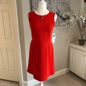 NWT Kenzie Orange Textured Fabric Dress S